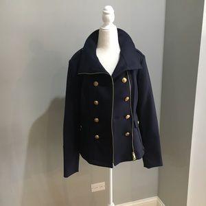 Burberry navy Crowborough military jacket